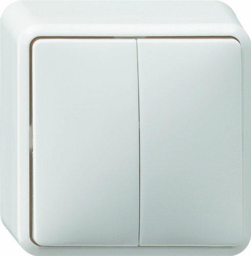 Gira Wippschalter 010513 Serienschalter AP reinweiss, 250 V, Weiß