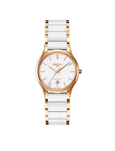 Roamer Damen Datum klassisch Quarz Uhr mit Keramik Armband 657844 49 25 60