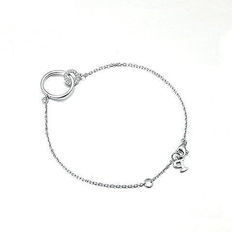 XG S925 doublure double cercle finition facile à porter bracelet