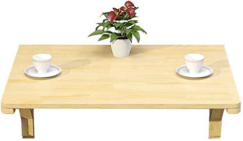 GBX Faltbare Wand- tragbare Falten Laptop-Schreibtisch-Tisch, an der Wand befestigten Klapptisch, Naturholz Esstisch Schreibtisch - Größe Optional, Faltwand Schreibtisch,100x50cm