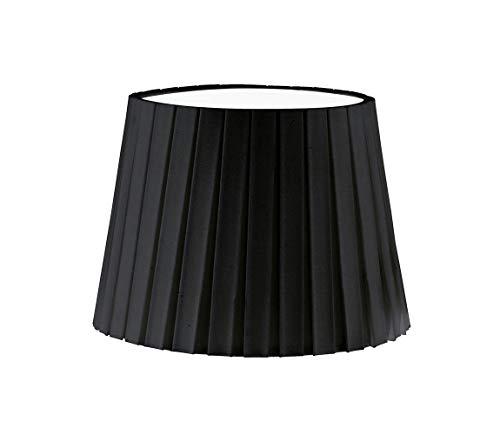 EGLO Lampenschirm 1+1 Vintage, Plissee, Ø 24,5 cm, E14, schwarz Schwarz | 49413 -