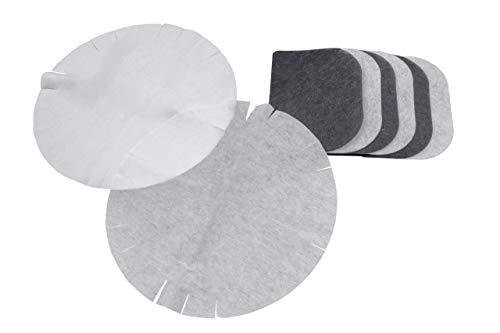 vhbw Filter Set, Aktivkohlefilter + Papierfilter + Fettdunstfilter für Fritteuse DeLonghi D8, F28311, F891, F895 ersetzt F8-F1000, 5525101500