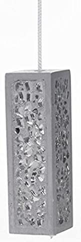 Silver Grey Mosaic Glass Light Pull & Cord by SIL