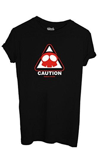 T-SHIRT YATTAMAN CAUTION - CARTOON by MUSH Dress Your Style Uomo-M