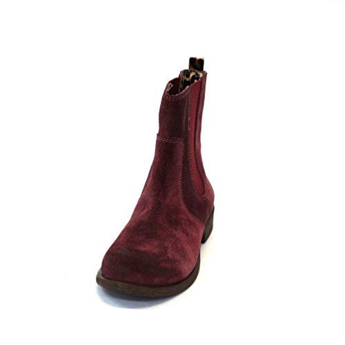 Lucky marchio da infilare tacco basso chelsea stivali, taglia 3,5, da £110 Rosso (rosso)