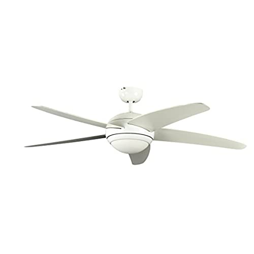 Cooling ceiling fans amazon ceiling fan melton white 52 inch with light and remote control blades white mozeypictures Image collections