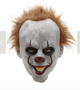 JENOR Halloween Pennywise Kostüm Scary Clown Maske Männer Cosplay Prop Kinder Spielzeug Trick (Scary Clowns Kostüm Kinder)