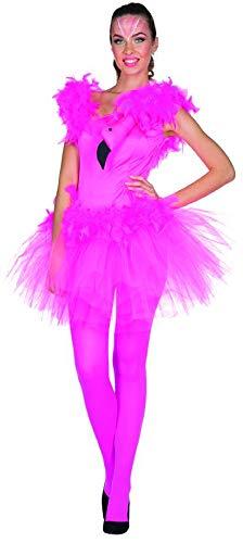 Rubie's Damen Kostüm Flamingo Dorna Kleid Pink Vogel Fasching Karneval (34) (Pink Flamingo Kostüm)