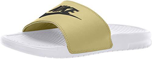 Nike Benassi JDI, Zapatos Playa Piscina Hombre, Blanco