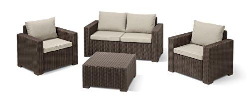 Allibert Lounge Sofa, Balkon, California Lounge Sofa Rattan - 2