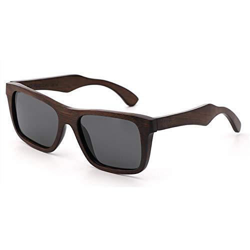 FYrainbow Paartes Retro-Fahrglasche, polarisierte Light Men ' S und Frauen Holzsonnenbrillen Sport Glasses Bamboo und Wood Sonnenbrille TAC-Objektiv UV400,E