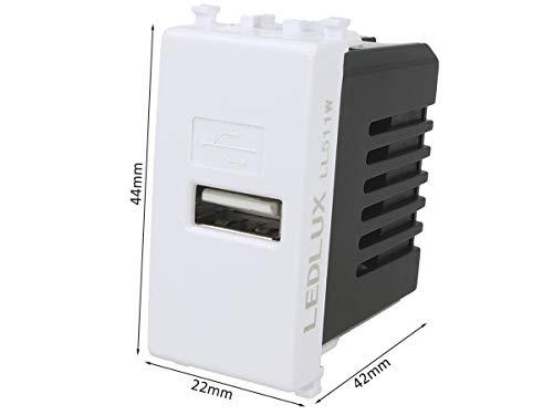 LEDLUX LL511W Modulo Caricatore USB 5V 2,1A Compatibile Con...