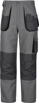 TRIUSO Power Lavoro Pantaloni alla Zuava 270G/M² in Grigio Grau W56