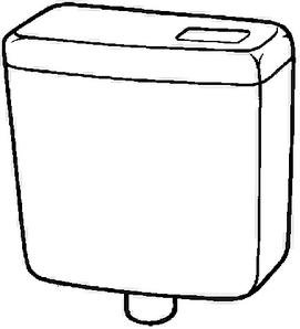 Keramag Spülkasten Renova Nr.1 521031, Kunststoff weiß(alpin) 6L 521031000