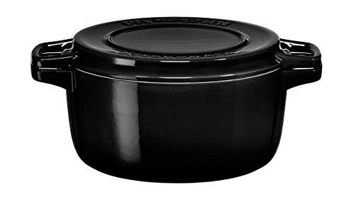 Kitchenaid Bräter rund aus gusseisen, schwarz, 24 cm