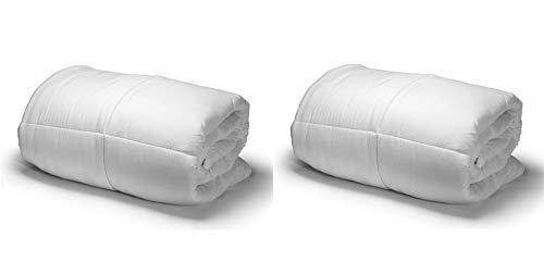 Amazinggirl Hypoallergen Ganzjahresdecke 135X200cm Weiß Bettdecke aus Microfaser für allergiker (Weiß, 2 Stuck: 135x200)