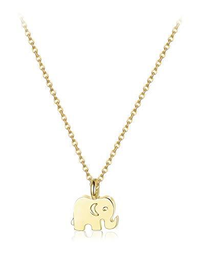 Besteel Collar para Mujer Niña Deseo Tarjeta con Elefante, Loto, Estrella, Infinito Collar Colgante Amor Regalo de la Amistad, Oro/Plata