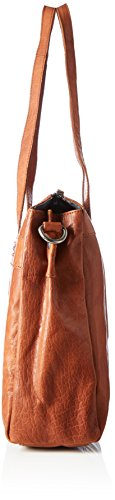 Spikes & Sparrow - Zip Bag, Borsette da polso Donna Marrone (Brandy)