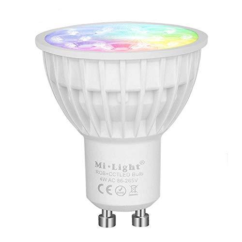 LED GU10 4W RGB+CCT Spotlicht Spotlight Leuchtmittel Steuerung via Funkfernbedienung WiFi iOS Adroid App -