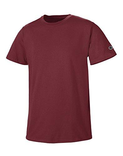 champion-t-shirt-de-sport-manches-courtes-homme-rouge-m