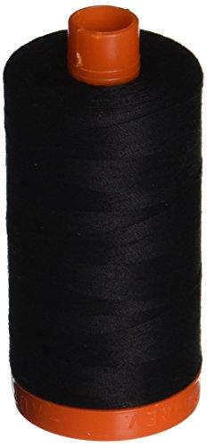 Aurifil,-2692Mako-Baumwolle Gewinde massiv 50WT 1422yds schwarz -
