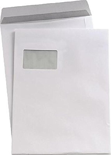 """5 Starâ""""¢ Versandtaschen, weiß, DIN C4, mit Fenster, 90g/qm, Inh. 250"""