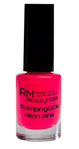 Stampinglack Neon Pink 4ml Stamping Lack Nagellack Nail Polish RM Beautynails