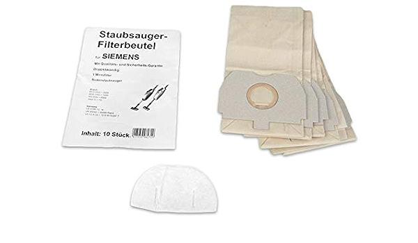 120 715 Sacchetto per la polvere FILTRO +2 10 Sacchetto Per Aspirapolvere Per SIEMENS SUPER VS 110