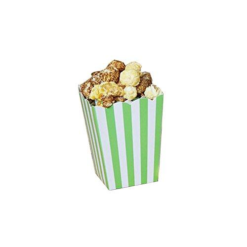 Black Temptation Popcorn-Boxen Fries Cup Party Supplies - Grüne Streifen - 12PCS