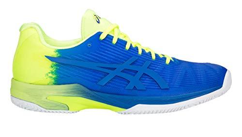 ASICS Hombres Solution Speed FF Le Clay Zapatillas De Tenis Zapatilla Tierra Batida Azul - Amarillo 46