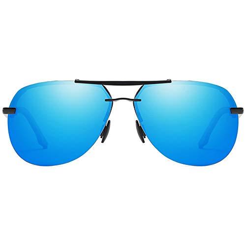 Lxc Trend New Street Shooting Wild Metal Material Polarisierte Sonnenbrille Braun/Blau/Schwarz Männer Und Frauen Mit Der Gleichen Sonnenbrille Fahren Zeige Temperament (Farbe : Blue)