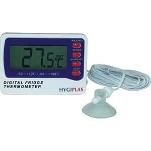 digitales thermometer f r k hlschrank gefrierschrank gro es display und zwei sensoren batterie. Black Bedroom Furniture Sets. Home Design Ideas