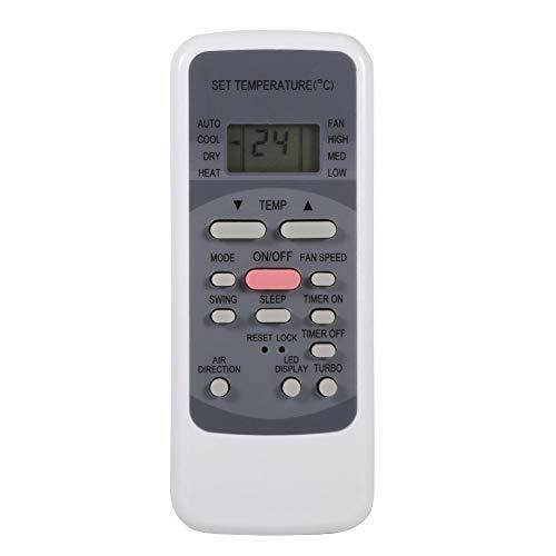 Tangxi Universal-AC-Fernbedienung für Midea R51-Klimageräte mit digitalem LCD-Bildschirm, Multifunktionscode-Liste, 10 m Fernbedienung, Weiß - Westinghouse Digital Lcd