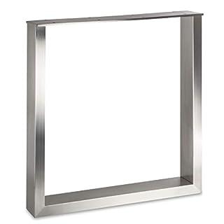 Tischgestell KUFE ECHT Edelstahl/Profil 80 x 40 mm/Höhe: 720 mm/Tiefe: 700 mm höhenverstellbar Tischuntergestell Tischkufe Tischbein Tischfuß von SO-TECH®