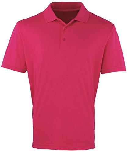 Kühler Premier Checker Pique Polo - 16 Farben / Sml-3XL - Hot Pink - XL Hot Pink Checker