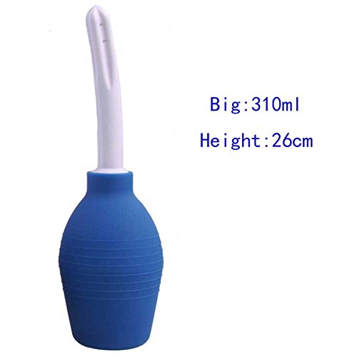 LUOOV Deluxe Anal & Vaginal Dusche L, Klistierspritze 89ml,160ml,220ml,310ml (310ml, Blau)