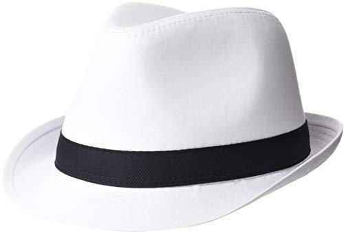 Beechfield Unisex Hut Fedora (L/XL) (Weiß/Schwarz) Large / X-Large,Weiß/Schwarz -
