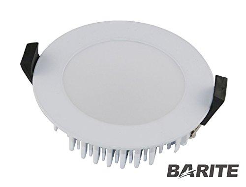 VBLED® Extra Flach, 13W LED Einbaustrahler, IP54 wassergeschützt, dimmbar, 230V, 3000K Warm-Weiß / Decken-Einbauspot / Badleuchte
