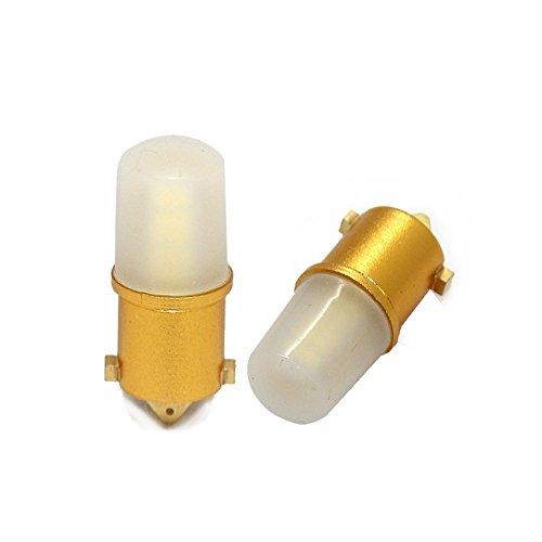 UNB9C360W - LED Lampe Weiss Can Bus T4W BA9S 12V Metallsockel (ohne Fehlermeldung) 360 Grad für Standlicht, Kennzeichenbeleuchtung, Leseleuchte, Kofferraumbeleuchtung, Türbeleuchtung, Fussraumbeleuchtung,