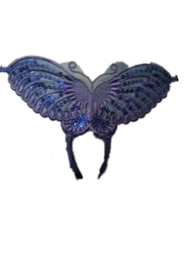 Ann Summers Blue Butterfly Crotchless Thong Open Crotch (Medium 12 - 14)