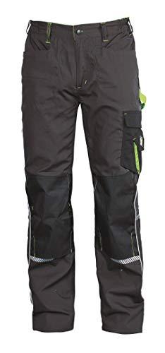 Stenso Prisma® - Herren Arbeitshose Bundhose/Cargohose mit Multifunktions/Kniepolster-Taschen - Grau/Grün EU52