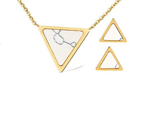 Beydodo Juegos Joyas Pendientes Collar Triangular