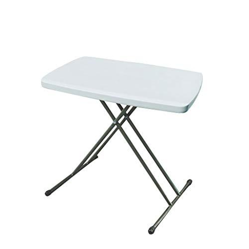 Tragbarer Klapptisch, 6-stufige Höhenverstellung, für Indoor Study Table Picknick im Freien -LI Jing Shop (Farbe : Weiß)