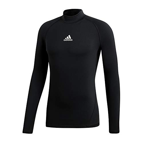 adidas Herren Alphaskin Longsleeve Warm T-Shirt, Black, XL