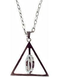 Anhänger Silber drehbarer Inneneinsatz Design zu den Heiligtümern des Todes mit Halskette