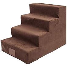 CAIJUN Escalera de Mascotas Casa Alfombra para Mascotas Esponja de Soporte Lavable Escalada de Perros y