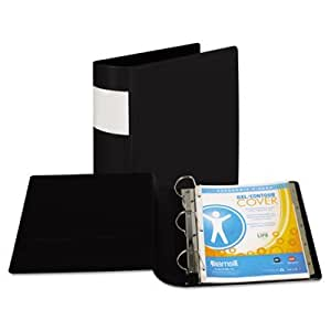 Samsill 17680 - Top Performance DXL Locking D-Ring Binder With Label Holder, 3 Capacity, Black-SAM17680