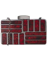 Satya Paul Women's Clutch (Blood Red)