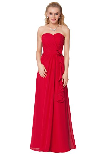 SEXYHER Herrliches bodenlangen Strapless Brautjungfern formales Abend-Kleid - EDJ1594 (Kleid Brautjungfer Strapless)