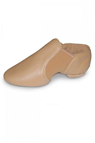 -Schuhe, Leder mit Neopreneinlagen, zum Hineinschlüpfen, Gummisohle, hautfarben, Größen für Erwachsene und Kinder, Kinder damen, Flesh Natural, UK 1 child / Eur 33 ()